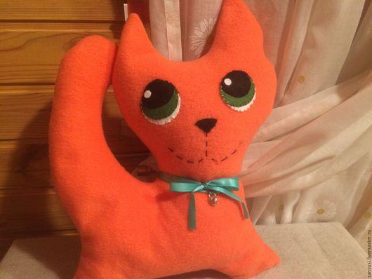 Игрушки животные, ручной работы. Ярмарка Мастеров - ручная работа. Купить Интерьерный текстильный кот Антистресс.. Handmade. Рыжий, антистресс