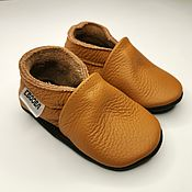 Работы для детей, handmade. Livemaster - original item Brown Baby Shoes,Baby Moccasins Leather Baby Shoes, Ebooba. Handmade.