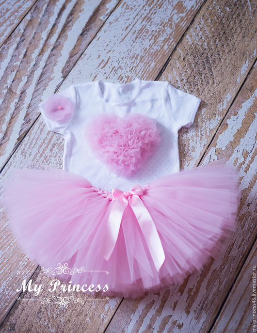 """Одежда для девочек, ручной работы. Ярмарка Мастеров - ручная работа. Купить Розовый комплект """"Валентинка"""". Handmade. Розовый, пышная юбка"""