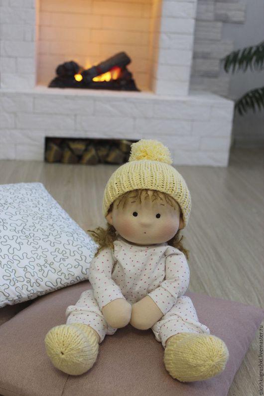 Вальдорфская игрушка ручной работы. Ярмарка Мастеров - ручная работа. Купить Лялька!!! Текстильная кукла по вальдорфским мативам. Handmade. Бежевый