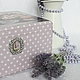 Шкатулка для чая и сладостей `Романтика по-французски`. Фрагмент декора.