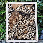 "Картины и панно handmade. Livemaster - original item Wood Wall Art "" Chameleon ""Wood Art,Nature Art,Engraving Wood,Laser. Handmade."