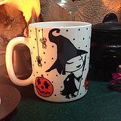 Кружки ручной работы. Ярмарка Мастеров - ручная работа Кружка Ведьмочка Хэллоуин  2. Handmade.