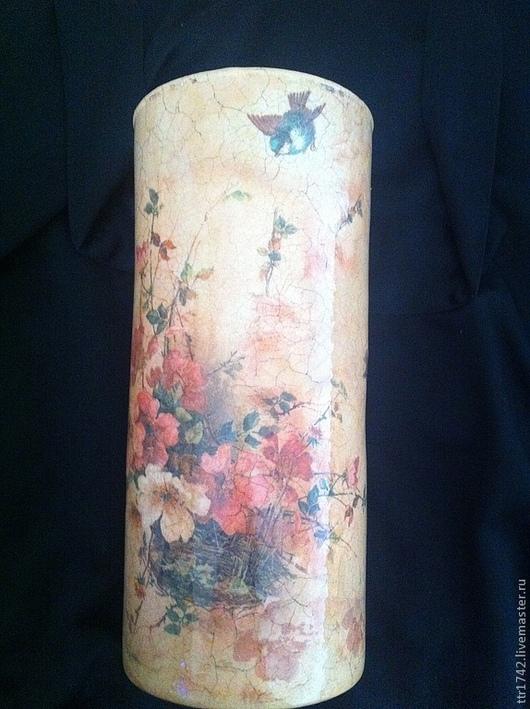 """Вазы ручной работы. Ярмарка Мастеров - ручная работа. Купить Ваза """"Букет в корзине"""". Handmade. Ваза, ваза декупаж, для интерьера"""