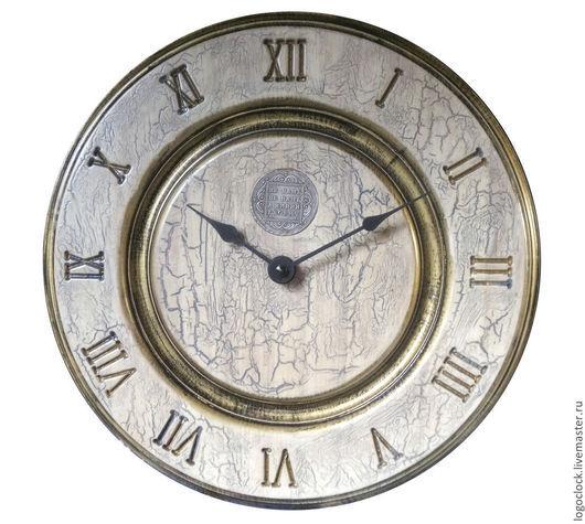Часы для дома ручной работы. Ярмарка Мастеров - ручная работа. Купить Настенные часы....белый бук...старое золото....три.. Handmade.