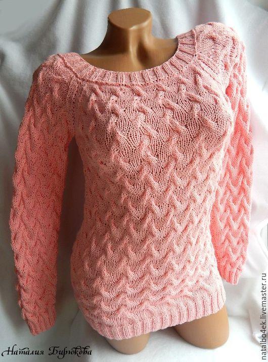 """Кофты и свитера ручной работы. Ярмарка Мастеров - ручная работа. Купить Свитер """"Зефирка"""". Handmade. Розовый, вязаный свитер"""