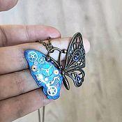 Украшения handmade. Livemaster - original item Butterfly steampunk. Handmade.