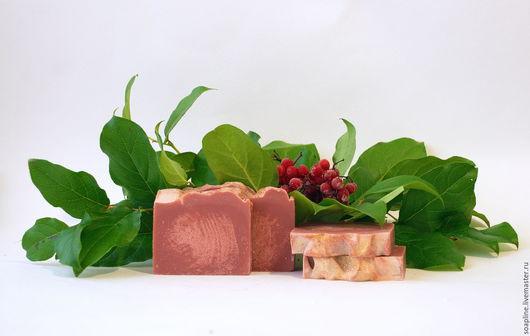 """Мыло ручной работы. Ярмарка Мастеров - ручная работа. Купить """"Каберне"""" натуральное шелковое мыло с нуля. Handmade. Бордовый"""