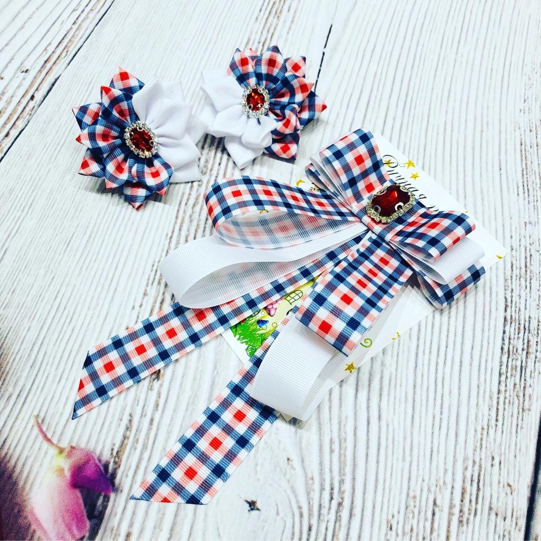 Набор  галстук брошь 2 банта, Галстуки, Тверь,  Фото №1