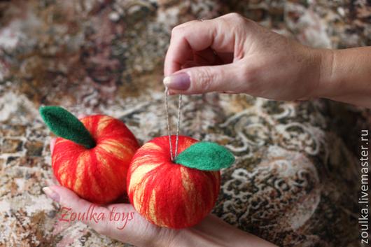 Еда ручной работы. Ярмарка Мастеров - ручная работа. Купить Яблочки наливные. Handmade. Разноцветный, интерьер, новогоднее украшение
