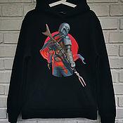 Мужская одежда handmade. Livemaster - original item Painting of the hoodie