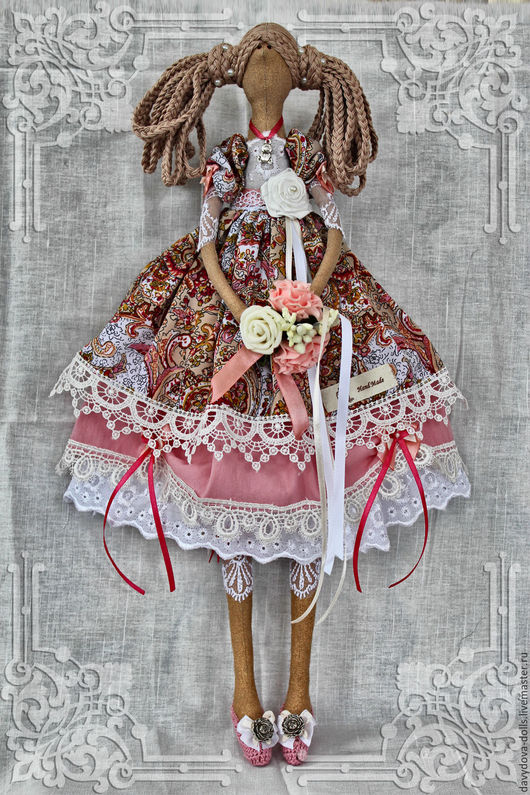 Куклы Тильды ручной работы. Ярмарка Мастеров - ручная работа. Купить Кукла тильда Джульетта.. Handmade. Розовый, хендмейд, синтепон