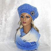 Аксессуары handmade. Livemaster - original item Berets: Knitted set( takes LIC) Blizzard.. Handmade.
