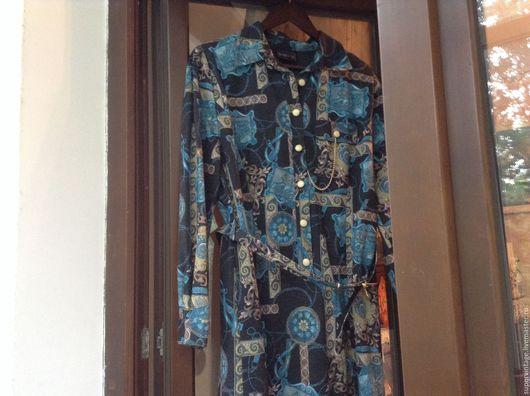 Одежда. Ярмарка Мастеров - ручная работа. Купить BARUCH трикотажное платье, винтаж. Handmade. Комбинированный, джерси