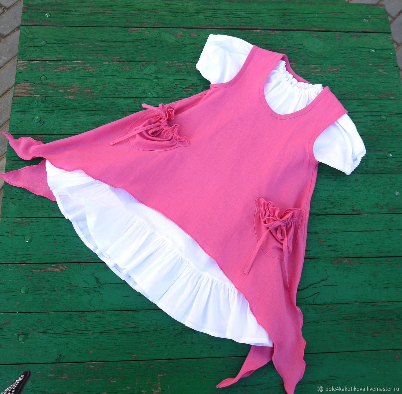 Платье для девочки в стиле бохо, Одежда, Липецк,  Фото №1
