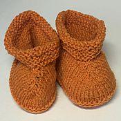 """Работы для детей, ручной работы. Ярмарка Мастеров - ручная работа Пинетки-""""носочки"""" из натуральной шерсти ручной работы. Handmade."""