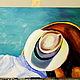 Фантазийные сюжеты ручной работы. картина маслом Поцелуй. Юлия-Yulitaya. Ярмарка Мастеров. Шляпка женская, легкость, летний