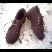 Обувь ручной работы. Ярмарка Мастеров - ручная работа валяные туфли для города. Handmade.