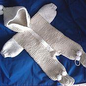 Комбинезоны ручной работы. Ярмарка Мастеров - ручная работа Вязаный комбинезон для новорождённых. Handmade.
