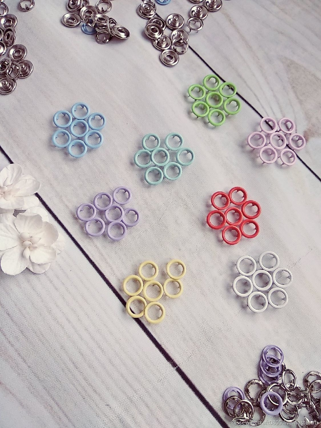 Buttons 7.5 mm knitting, Snap buttons, St. Petersburg,  Фото №1