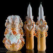 Свадебный салон ручной работы. Ярмарка Мастеров - ручная работа Резные свадебные свечи ручной работы.Свадебные резные свечи. Handmade.