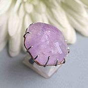 Rings handmade. Livemaster - original item Ring with amethyst. Silver. Handmade.