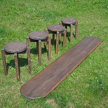 Мебель ручной работы. Ярмарка Мастеров - ручная работа Табурет №3 компактный. Handmade.