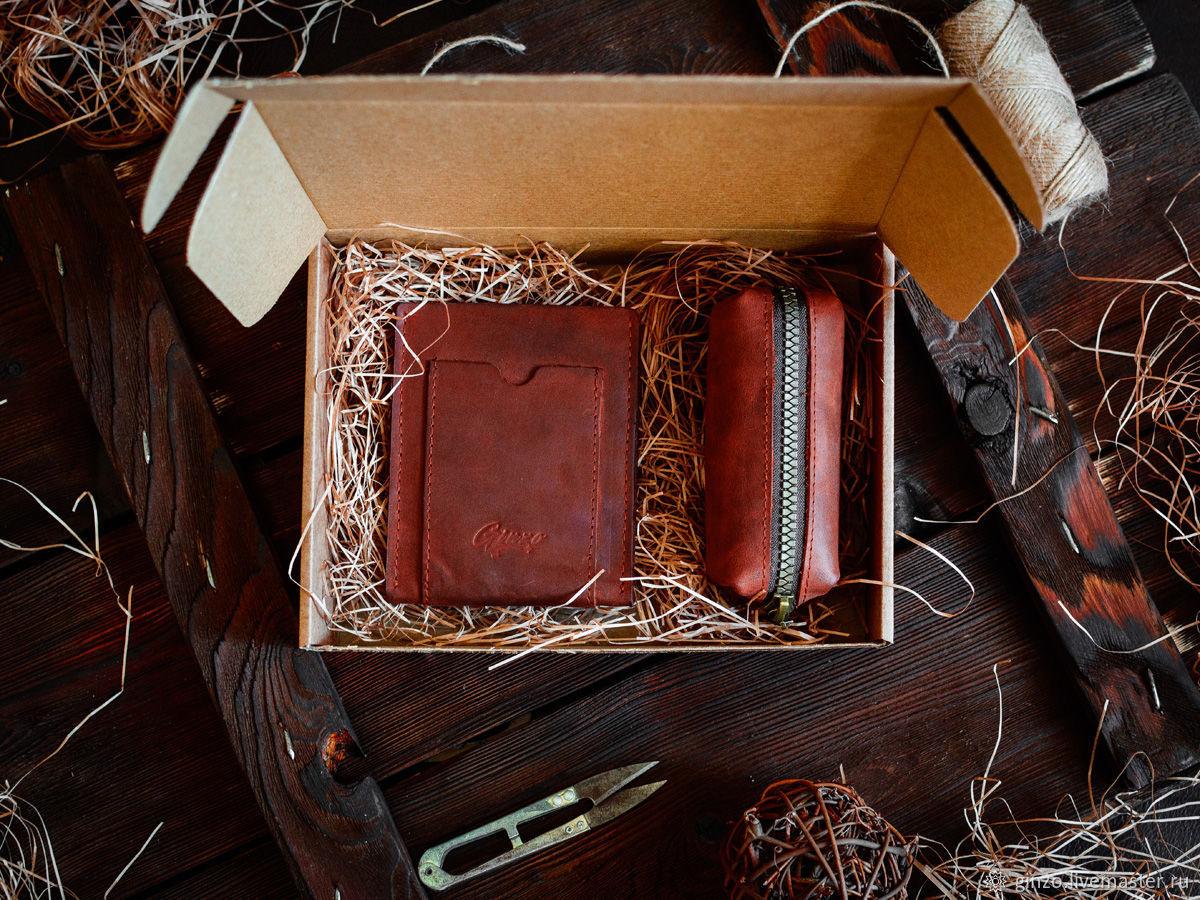 Подарочный набор аксессуаров для автомобилиста из кожи HIGHWAY, Автомобильные сувениры, Тула,  Фото №1
