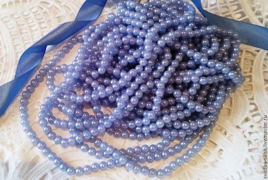 Для украшений ручной работы. Ярмарка Мастеров - ручная работа. Купить Бусины (8 мм) (голубой). Handmade. Белый