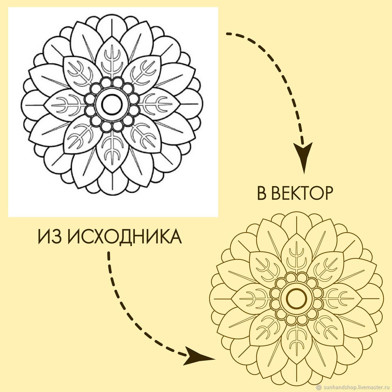 Отрисовка в векторе, перевод изображений в вектор, Иллюстрации, Санкт-Петербург,  Фото №1