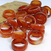 Украшения handmade. Livemaster - original item Ring of carnelian, agate wide 19.5 p-R. Handmade.