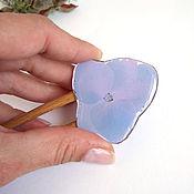 Украшения handmade. Livemaster - original item Wooden hairpin made of beech with a real Hydrangea flower Eco. Handmade.