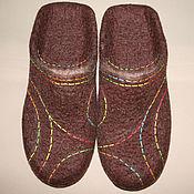 Обувь ручной работы handmade. Livemaster - original item Men`s felted Slippers Color geometry-1. Handmade.