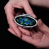 Для дома и интерьера handmade. Livemaster - original item Pill box with embroidery