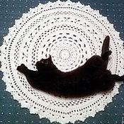 Для дома и интерьера ручной работы. Ярмарка Мастеров - ручная работа Коврик прикроватный вязаный. Handmade.