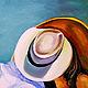 Фантазийные сюжеты ручной работы. Ярмарка Мастеров - ручная работа. Купить картина маслом Поцелуй. Handmade. Бирюзовый, картина для интерьера