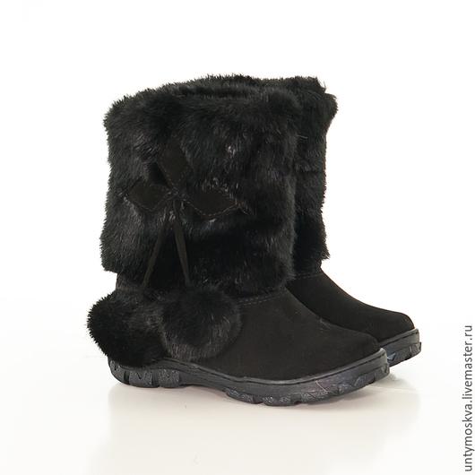 Обувь ручной работы. Ярмарка Мастеров - ручная работа. Купить Унты детские ( для девочек) уд25. Handmade. Обувь