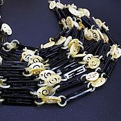 Материалы для творчества handmade. Livemaster - original item Water Buffalo Horn Chain/Zebu 45cm carved elements. Handmade.