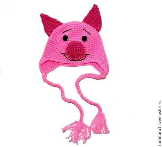 """Шапки и шарфы ручной работы. Ярмарка Мастеров - ручная работа. Купить шапочка """"Пятачок"""" (детская шапка, шапочка детская, вязаная)). Handmade."""