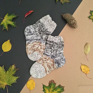 Аксессуары ручной работы. Ярмарка Мастеров - ручная работа Носки: Пестрые носки. Handmade.