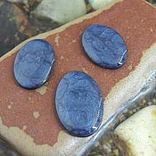 Материалы для творчества handmade. Livemaster - original item Set cabochons. Color - metallic Blue. Shape - oval. Handmade.