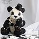 Мишки Тедди ручной работы. Ярмарка Мастеров - ручная работа. Купить Мистер Панда. Handmade. Чёрно-белый, игрушечный медведь