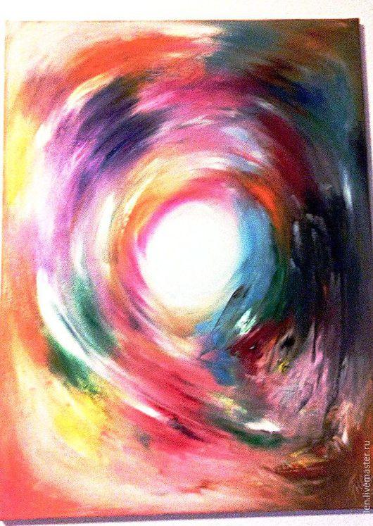 Энергетический вихрь. Интуитивная живопись Размер 60 на 80. Фото к сожалению изображает только квадрат, работа прямоугольного формата.