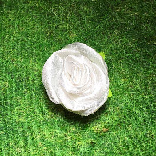 Броши ручной работы. Ярмарка Мастеров - ручная работа. Купить «Белая Роза» («White Rose»).. Handmade. Белый, цветок-брошь