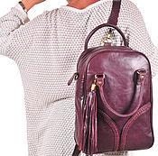 Сумки и аксессуары ручной работы. Ярмарка Мастеров - ручная работа Atlantis. Ранец – рюкзак из натуральной кожи. (4). Handmade.