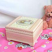 Для дома и интерьера handmade. Livemaster - original item Box for storage of mother`s treasures, a gift to the child for a year decoupage. Handmade.