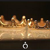 """Золотые обручальные кольца """"Короны"""""""