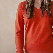 Одежда handmade. Livemaster - original item Cashmere jumper Orange. Handmade.