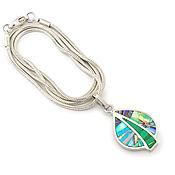 Украшения handmade. Livemaster - original item Pendant Leaf. Malachite, Turquoise, Mother Of Pearl. Pendant natural stones.. Handmade.