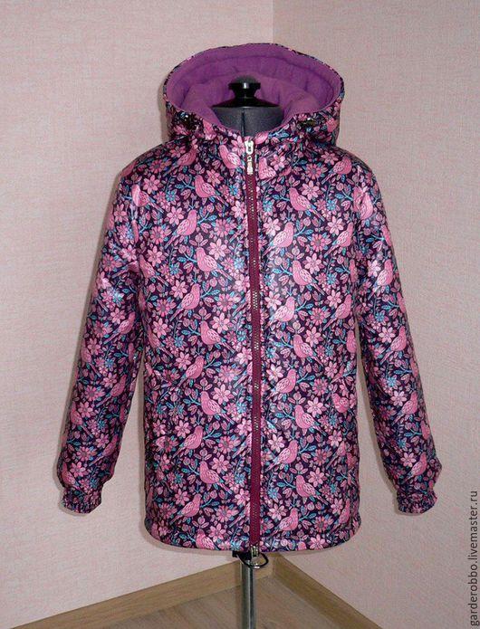 Одежда для девочек, ручной работы. Ярмарка Мастеров - ручная работа. Купить Куртка зимняя. Handmade. Брусничный, Плащёвая ткань